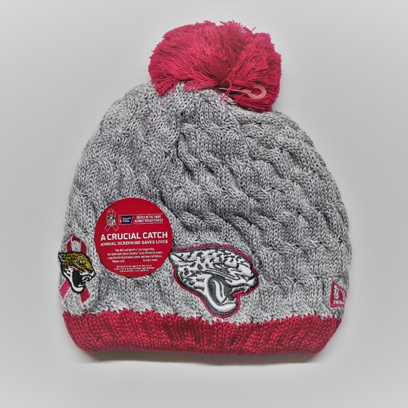 d30ea4e919f New Era Jaguars NFL Pink Breast Cancer Knit Hat
